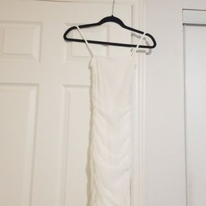 All white rouched dress